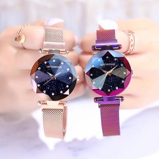 网红手表女学生星空简约时尚潮流防水抖音2018手表