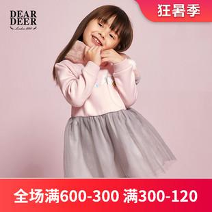 迪迪鹿女小童冬装连衣裙1-2-5岁女宝宝公主网纱裙潮