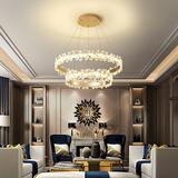 查看精选后现代轻奢水晶吊灯客厅灯现代简约大气led餐厅创意2019灯具最新价格