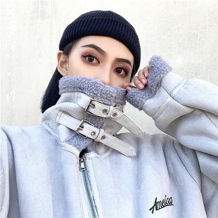 2018秋冬外套宽松原宿bf风学生羊羔毛街头机车服加厚棉袄夹克男女