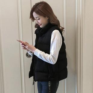 羽绒棉马甲女短款2018秋冬学生立领时尚坎肩背心外套