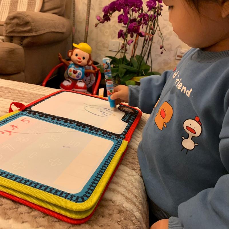 托马斯水画布儿童神奇水写涂鸦画板本宝宝益智清水绘画笔画毯画垫