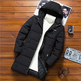 秋冬棉衣男士外套中长款加厚羽绒棉服潮帅气冬装宽松棉袄男装