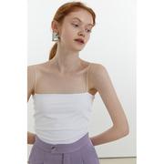 范洛2021夏季吊带背心女内搭外穿一字肩白色美背打底抹胸裹胸上衣
