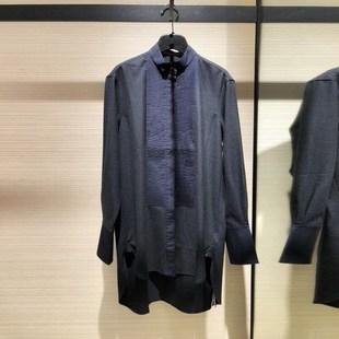 希哥弟思媞2018秋冬季羊毛衬衫女中长款大码女装保暖衬衣