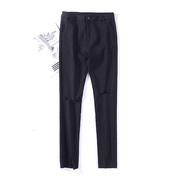 小雨女装1.1斤L¥22裤子内衬加绒长裤黑色显瘦潮