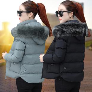 短款棉衣女2018冬季冬装小棉袄加厚外套时尚羽绒棉服