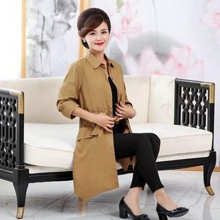 2018春季女装时尚翻领气质百搭中长款不规则下摆风衣外套