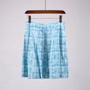 〖菲〗欧美高端品牌折扣女装夏装含真丝桑蚕丝半身裙1C530
