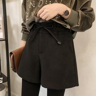 大码女装宽松显瘦减龄阔腿裤胖妹妹女裤胖女人冬装洋气微胖短裤子