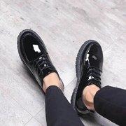 男士休闲皮鞋夏季韩版潮流男生马丁靴青年商务工装黑色小皮鞋