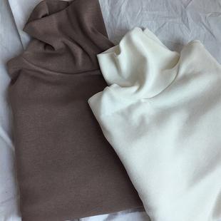 高领打底衫女长袖秋冬季2018网红内搭上衣服t恤