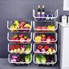 304不锈钢厨房蔬菜置物架落地多层放菜架子移动水果多功能收纳筐