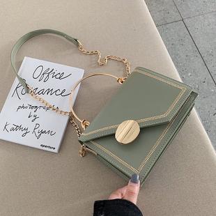 洋气小包包女2019夏季时尚手提单肩包百搭斜挎链条小方包