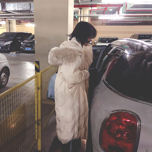 2018冬装东大门羽绒棉服女装中长款过膝棉衣加厚棉袄冬季外套