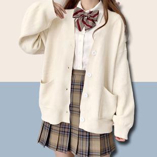 jk毛衣针织衫开衫女可爱甜美日系春秋薄学院风慵懒风宽松冬季外套