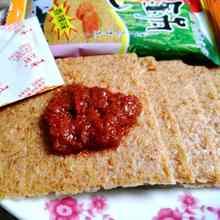 辣酱包泾县云岭锅巴安徽特产PK辣椒蘸酱大米非油炸快餐零食