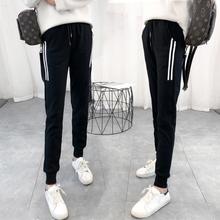 运动裤女学生宽松显瘦长裤哈伦裤纯棉加绒秋冬季百搭裤子