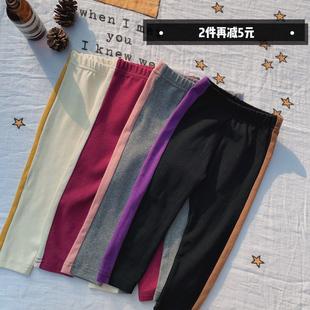 香港靓妞女宝宝打底裤纯棉高弹力儿童女童裤子裤2019春季