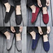 春季男士韩版帆布鞋潮社会小伙豆豆鞋一脚蹬懒人老北京布鞋男夏季