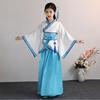 儿童古装汉服国学书童男女学生中国风演出服装弟子规三字经表演服