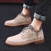 男鞋春季潮鞋2019潮流鞋子男士鞋百搭皮鞋男英伦板鞋