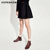 红袖女装冬装宽松显瘦高腰A字短裙纯色打底半身裙
