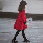 女童洋气连衣裙2018冬装加绒加厚中大童时尚百褶裙儿童公主裙