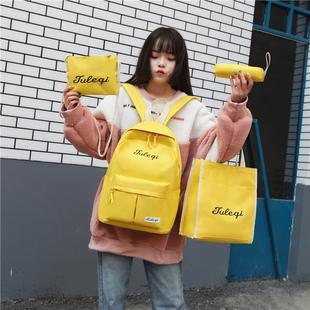 原宿ulzzang高中学生大书包女双肩包古着感少女校园背包