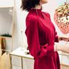 晚礼服女2018宴会秋装红色小礼服显瘦高贵生日洋装派对连衣裙