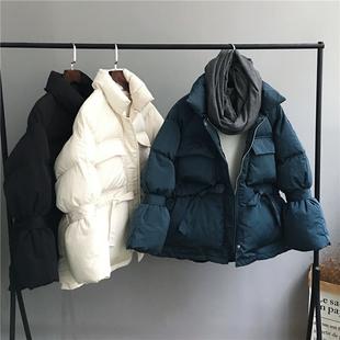 2018冬季宽松短款羽绒棉棉衣女面包服学生加厚棉服外套