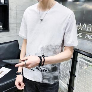 男士短袖t恤2019夏季百搭潮牌半袖体恤潮流男装上衣服T恤