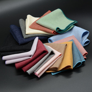YSBYL正装纯色商务西服口袋巾男士英伦绒布小方巾手帕巾