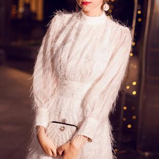 晚礼服女2018白色高贵仙学生显瘦礼服裙优雅气质长款宴会