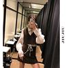 2019春季优雅复古法式小众设计感套装时尚两件套马甲背心短裙