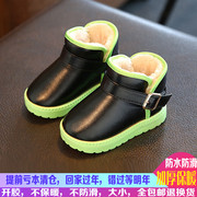01-2-3-4-5-6-7-8岁儿童雪地靴男童棉鞋宝宝鞋女童短靴子秋冬棉鞋