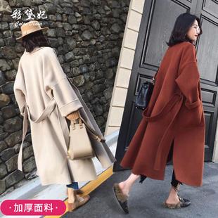 2018秋冬毛呢外套中长款百搭显瘦呢子大衣加厚女