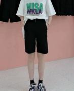 2021夏款运动流行青春直筒休闲显瘦百搭女士薄款短裤@俪生伴服装