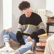 唐狮毛衣男秋冬季针织衫外套男士韩版潮流个性线衣宽松毛线衫