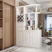 实木玄关柜酒架客厅餐厅隔断柜间厅柜双面鞋柜餐边柜现代新中式