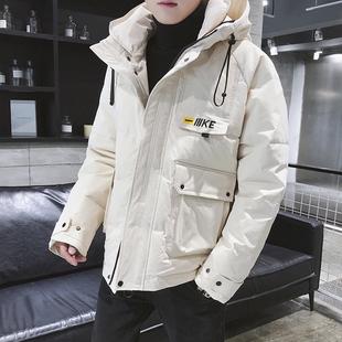 送夹克棉衣男士外套冬季2019棉服帅气加厚棉袄潮流短款工装