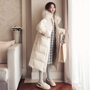 棉衣女装2018冬季宽松中长款加厚棉袄外套东大门过膝羽绒棉服
