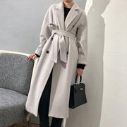 反季459 M经典~羊毛双排扣茧型大衣毛呢外套女H12CD101801