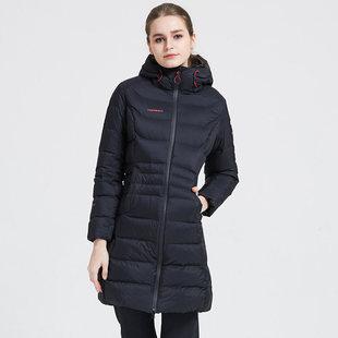 探路者女装男装秋冬季情侣户外长款羽绒服保暖羽绒衣加厚外套