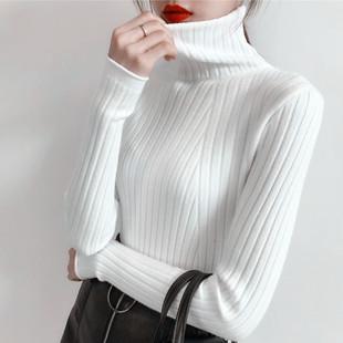 高领毛衣女2018套头宽松中长款打底衫秋冬长袖百搭针织衫