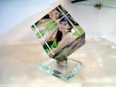 水晶旋转魔方立方体相框结婚纱照片生日礼物送女友创意diy定制作