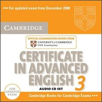 绝对正版:Cambridge Certificate in Advanced English 3 for U
