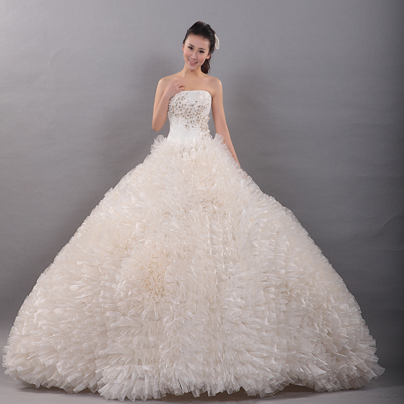 Big fluffy prom dresses pictures to pin on pinterest for Short fluffy wedding dresses