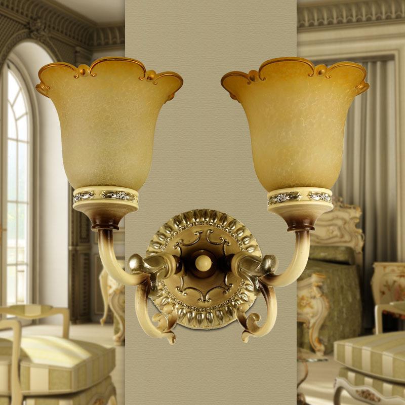 两护欧式壁灯 客厅卧室床头灯具简约现代时尚创意过道灯饰L14-2W