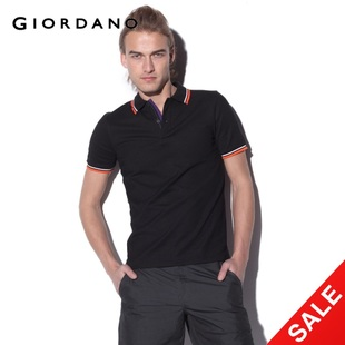 Snap up limited edition Giordano  men's quick-drying in  summer skinny DRY with colorful beads POLO01011001